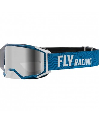 Очки Fly Racing Zone Pro 2021, бело-синий